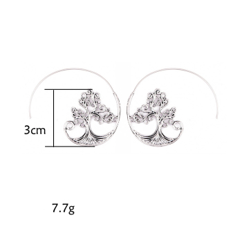 Earrings For Women Fashion Spiral Modern Heart Leaf Tree Vintage Golden Silver Glamour Trend Sexy Beach Vacation Dangler Earring 1
