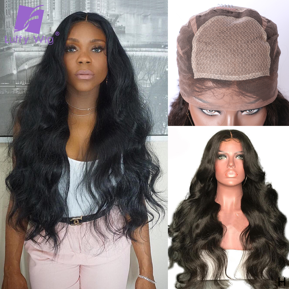 Body Wave 5x4.5 Silk Base Full Lace Human Hair Wigs Pre Plucked Remy Brazilian Silk Top Wig With Baby Hair 130% Density Luffy