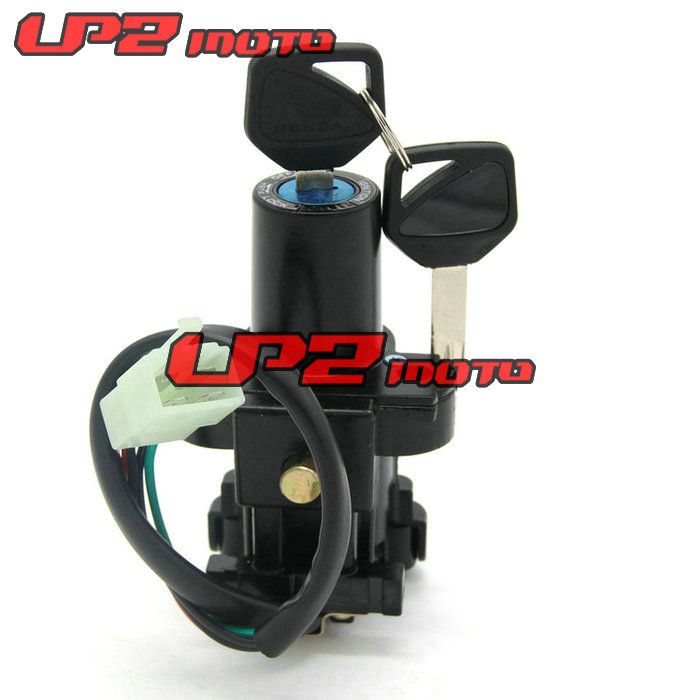 Motorcycle Motorbike Ignition Switch Key with Wire Electric Door Lock For Honda CBR900RR CBR929 CBR954 2000 2003