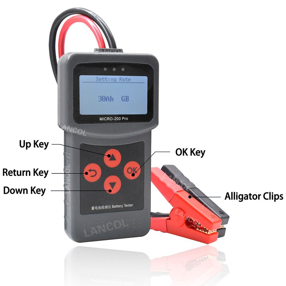 Lancol Micro200 Pro 12 В тестер автомобильных аккумуляторов от 40 до 2000CCA 12 вольт аккумуляторные инструменты для автомобиля Быстрая зарядка диагности...