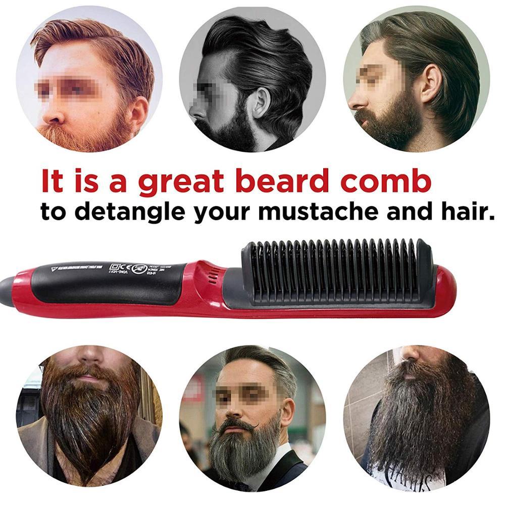 Güzellik ve Sağlık'ten null'de 20 adet moda saç fırçası fırça saç düzleştirici elektrikli profesyonel demir doğrultma dalgalanma saç sakal düzleştirici tarak title=