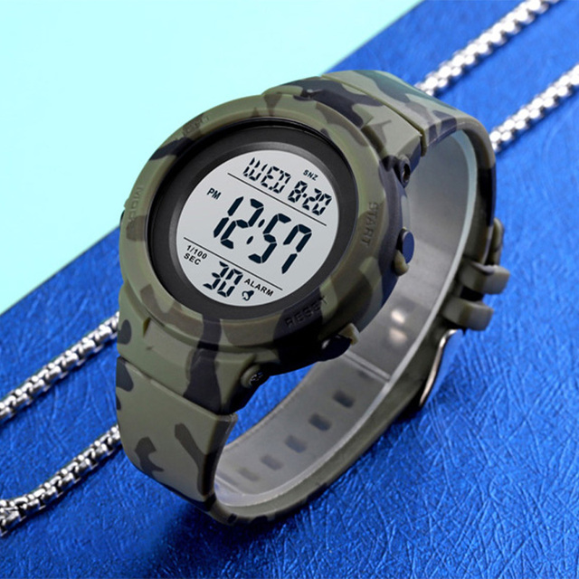 Skmei duplo tempo relógios esportivos digitais dos homens 5bar à prova dshockproof água à prova de choque relógios de pulso de hora moda casual reloj hombre 1615 3