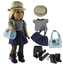 """Fashion Doll Clothes Set Toy Clothing Outfit for 18"""" American Doll Casual Clothes Many Style for Choice X27"""