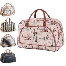Large Capacity Leather Women Travel Bags Hand Luggage Duffle Bag Travel Waterproof Print Luggage Organizer Weekend Overnight Bag
