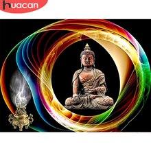 HUACAN – peinture de diamant 5D de bouddha, bricolage, décoration de maison, Art de broderie, Religion, soldes