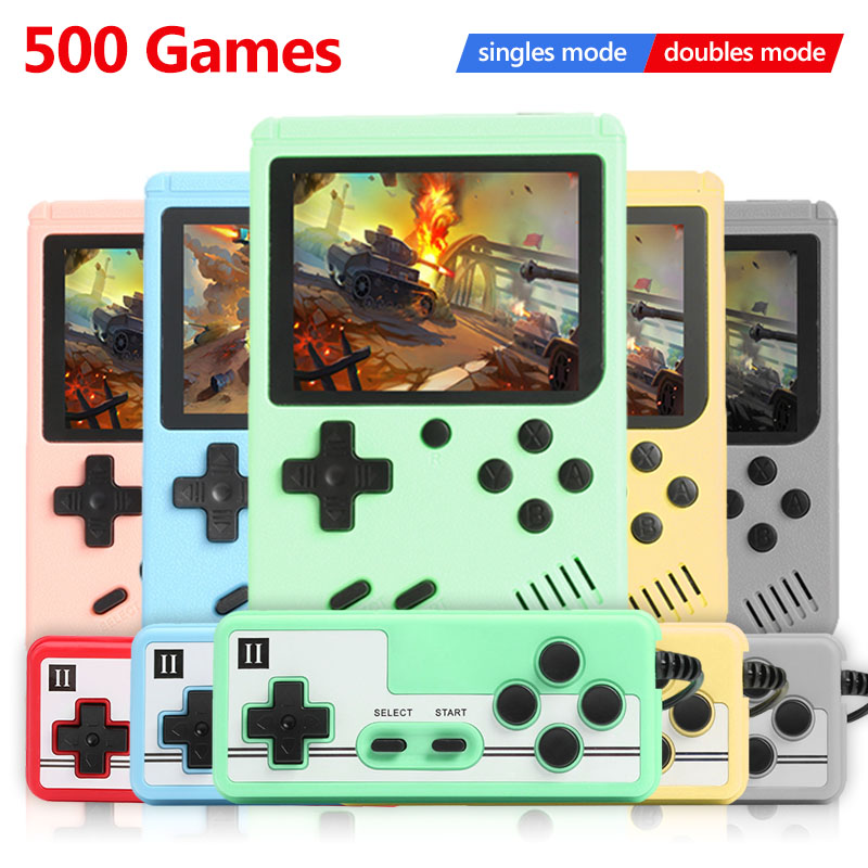 ALLOYSEED 500 Games 3.0 Inch Retro Video Games Portable Player Pocket Game Console Retro Gamepad Mini Handheld for Kids Gift