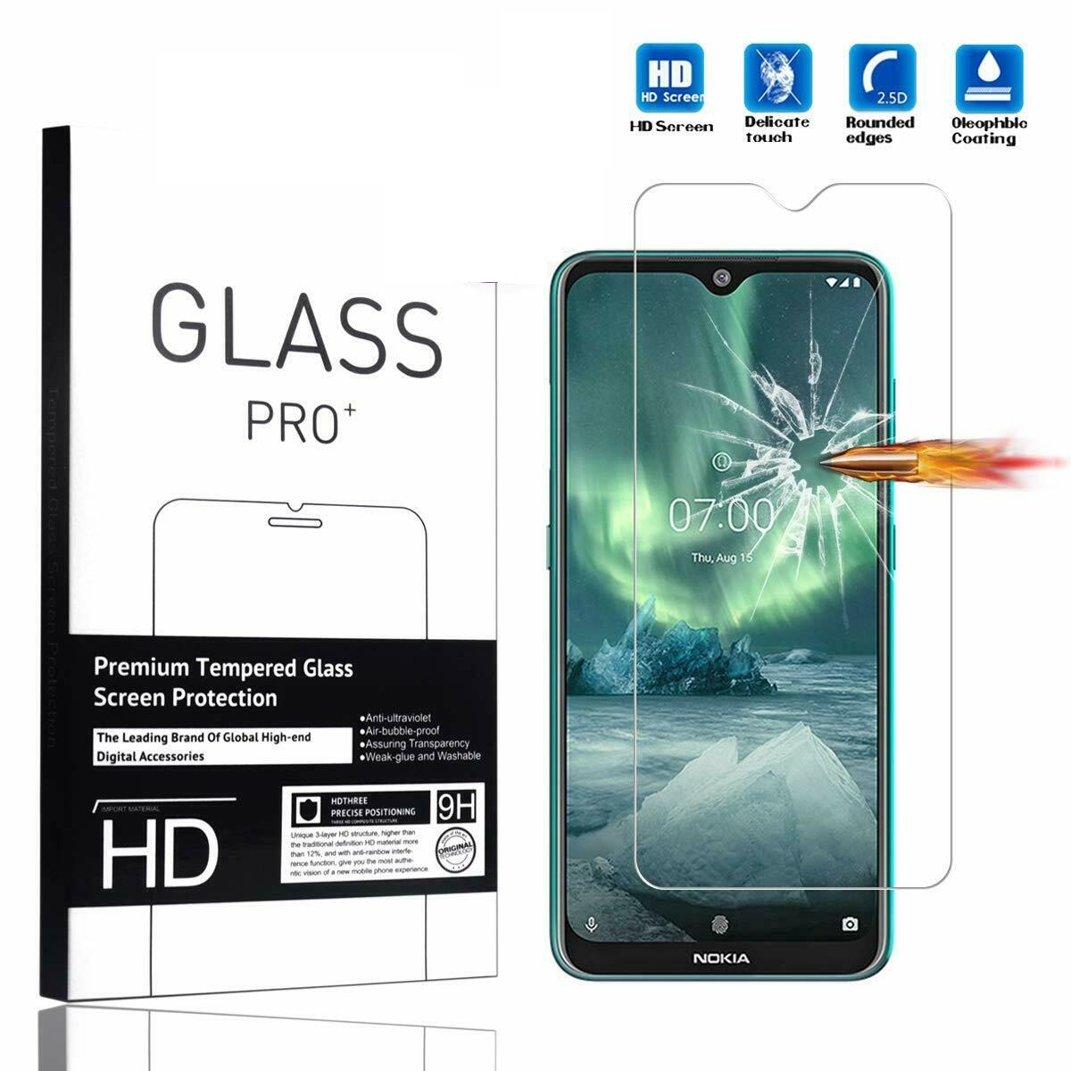 9H Tempered Glass For Nokia 2.3 Screen Protector 0.26MM Screen Protectors For Nokia 2.3 Case