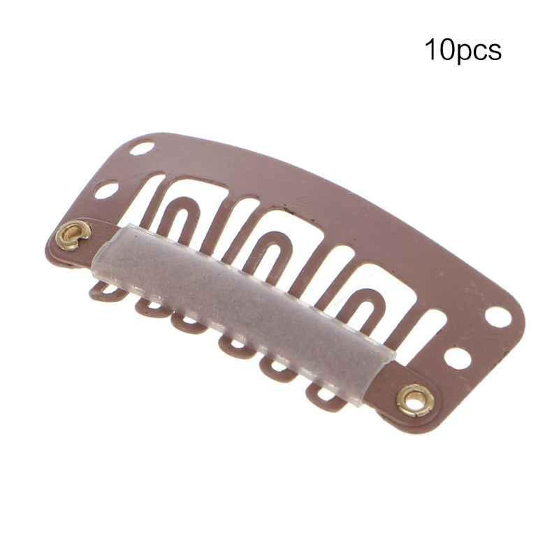 10 Stuks Bruin Zwart Blond U Snap Clip Voor Haarverlenging Pruik 32Mm Styling Gereedschap Accessoires