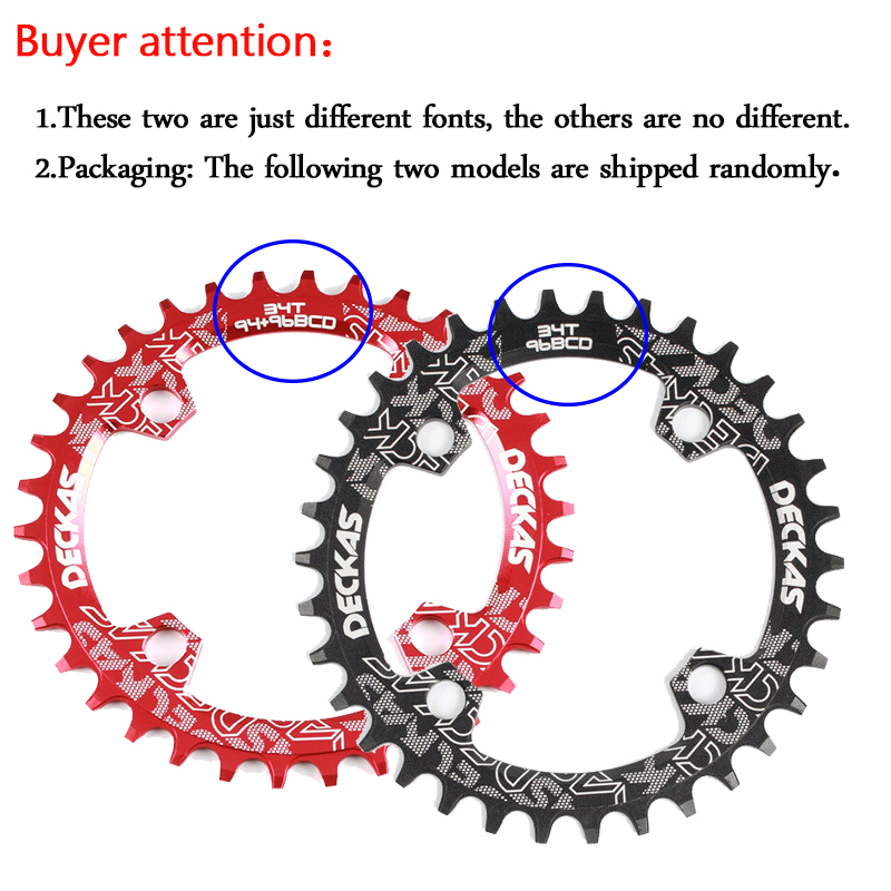 ALI shop ...  ... 32959628064 ... 3 ... Deckas Chainwheel 96BCD 32T/34T/36T/38T Round Oval Narrow Wide Chainring MTB Road Bike Crankset Chainwheel Bicycle Parts ...