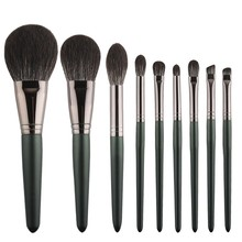 9 шт., кисти для макияжа, черные, с деревянной ручкой, волоконные волосы, тени для век, подводка для глаз, ресницы, макияж, кисть, покрытие, Pinceau Maquillage