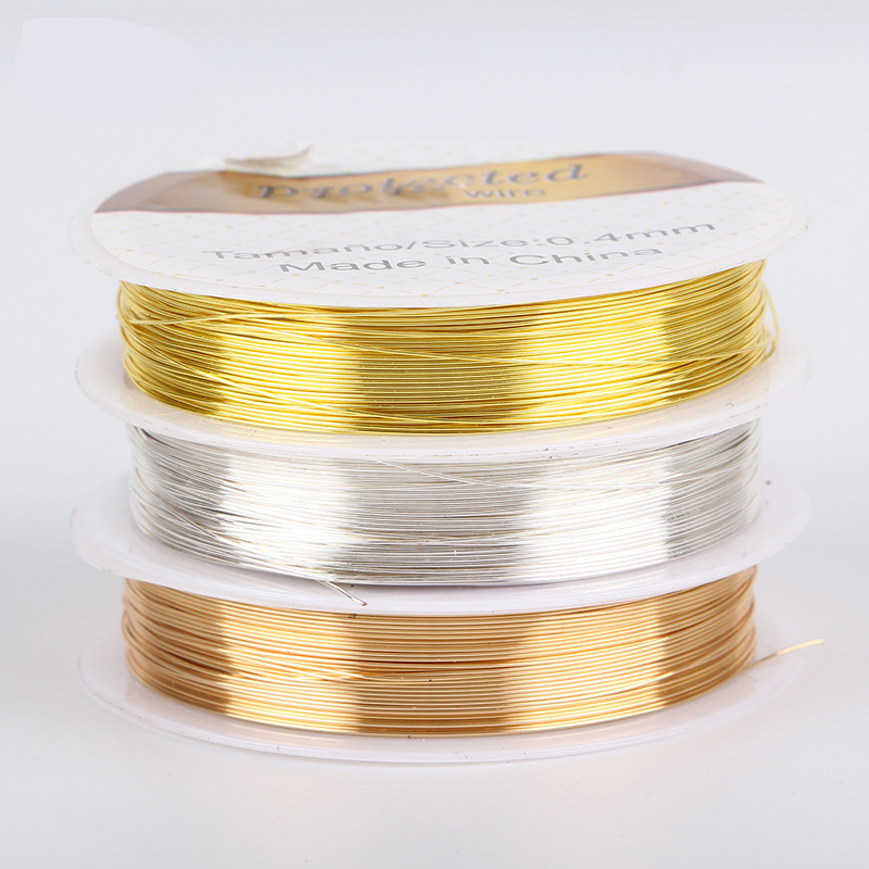 50cm/lot 0.3-1mm Dia 925 Silver Wire For Beading Stringing Connector DIY Bracelet Components Jewelry Accessory image