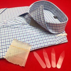 200Pcs Plastic Collar Stiffeners Stays Bones Set For Dress Shirt Men's Gifts Clear Plastic Collar Stays 55 x 10 mm