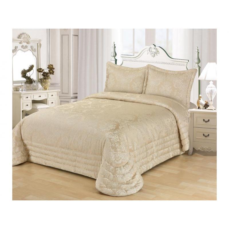 цена на Bedspread double KARNA, EVONY, 240*260 cm, beige