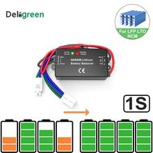 1S korektor baterii pojedyncza komórka Li ion LiFePO4 LTO NCM polimer 18650 DIY aktywny wyważarka baterii BMS ze wskaźnikiem Led QNBBM