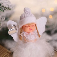 Kawaii Christmas Ornaments Angel Doll Merry Christmas Decorations for Home Elf Tree Pendant 2019 Xmas Gift Toys for Kids Navidad