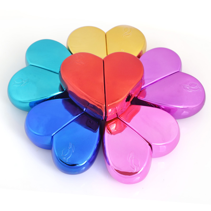 <font><b>25ml</b></font> Heart Shaped Spray Perfume Bottle Glass Airless Pump Woman Parfum Atomizer Travel Bottle Empty Cosmetic <font><b>Containers</b></font> image