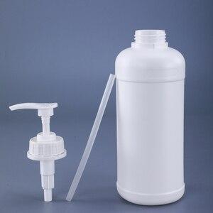Image 3 - 500ML 1000ML Empty Square Plastic pump Bottles for Lotion Shampoo Alcohol Dispenser Food Grade 4PCS/lot