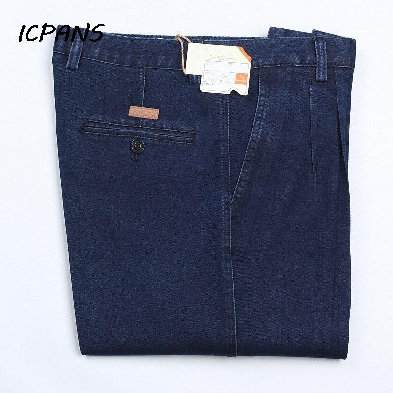 ICPANS Plus Size 30  42 44 46 Denim Jeans for Men Autumn Classic High Waist Straight Loose Blue Stretch Jeans Men 2019|Джинсы|   | АлиЭкспресс