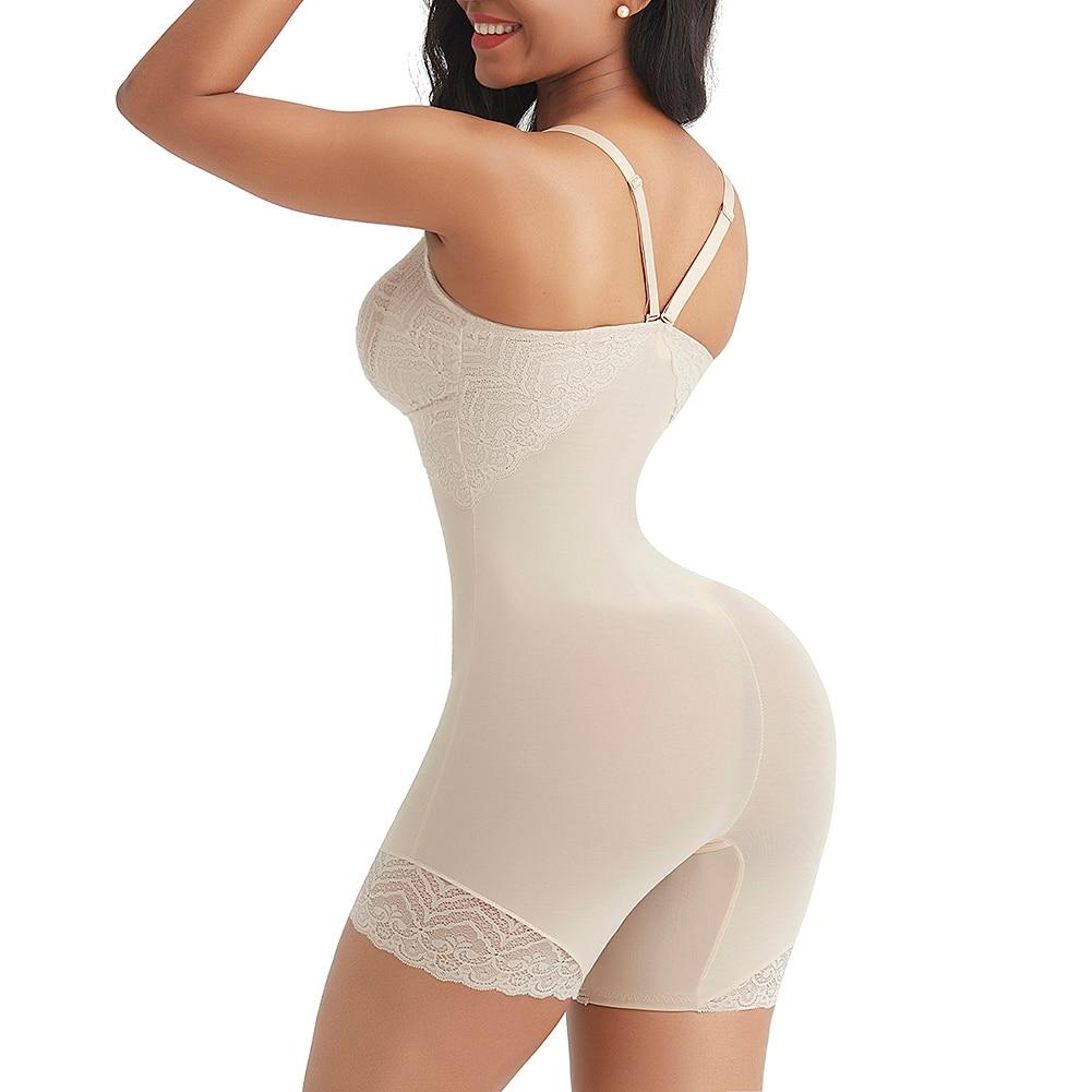 Tummy Control Butt Lifter Deep V Neck Body Shaper