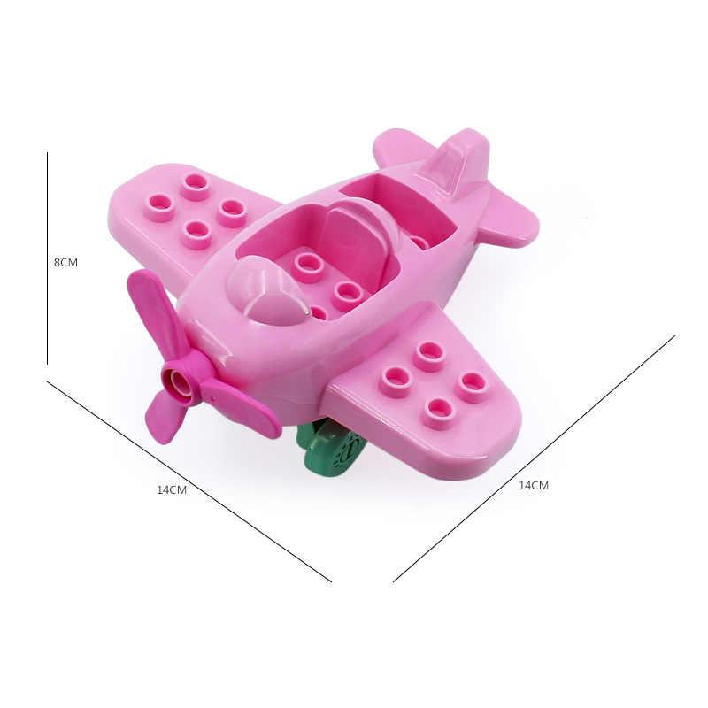 مدينة سلسلة كبيرة الجسيمات الانكليزي اللبنات متوافق Legoing تكنيك سيارة حافلة نموذج طائرة الطوب DIY اكسسوارات الاطفال اللعب