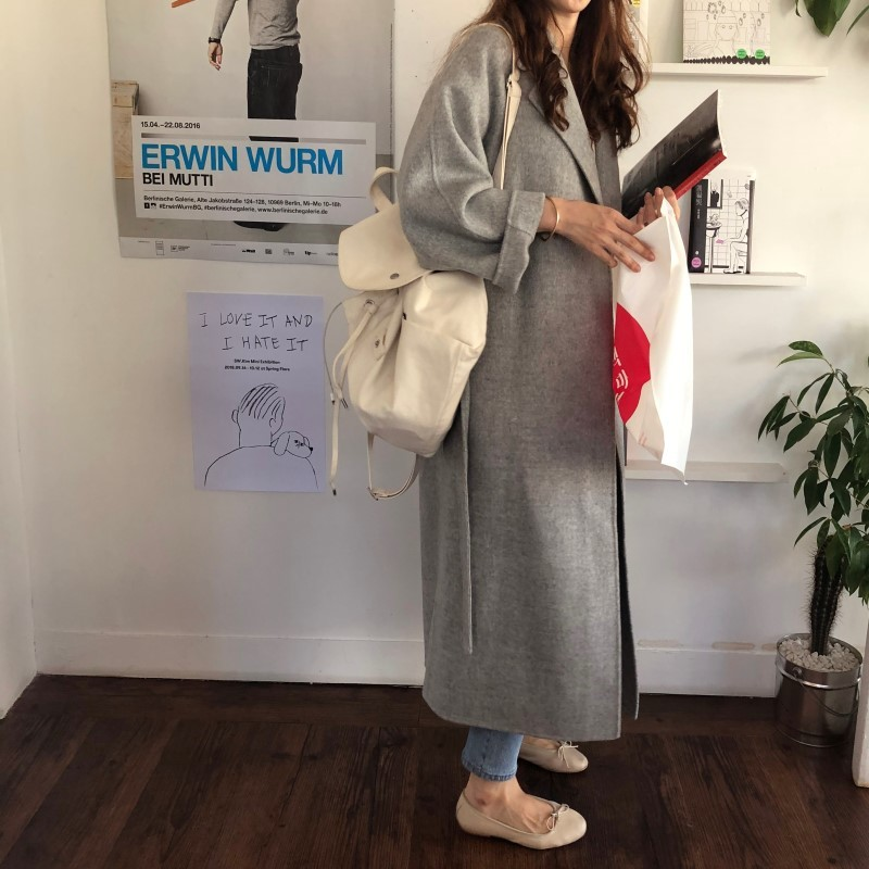 19 Winter Oversize Long Trench Coat Women Cashmere Coat Korean Lady Windbreaker Outwear Streetwear 36