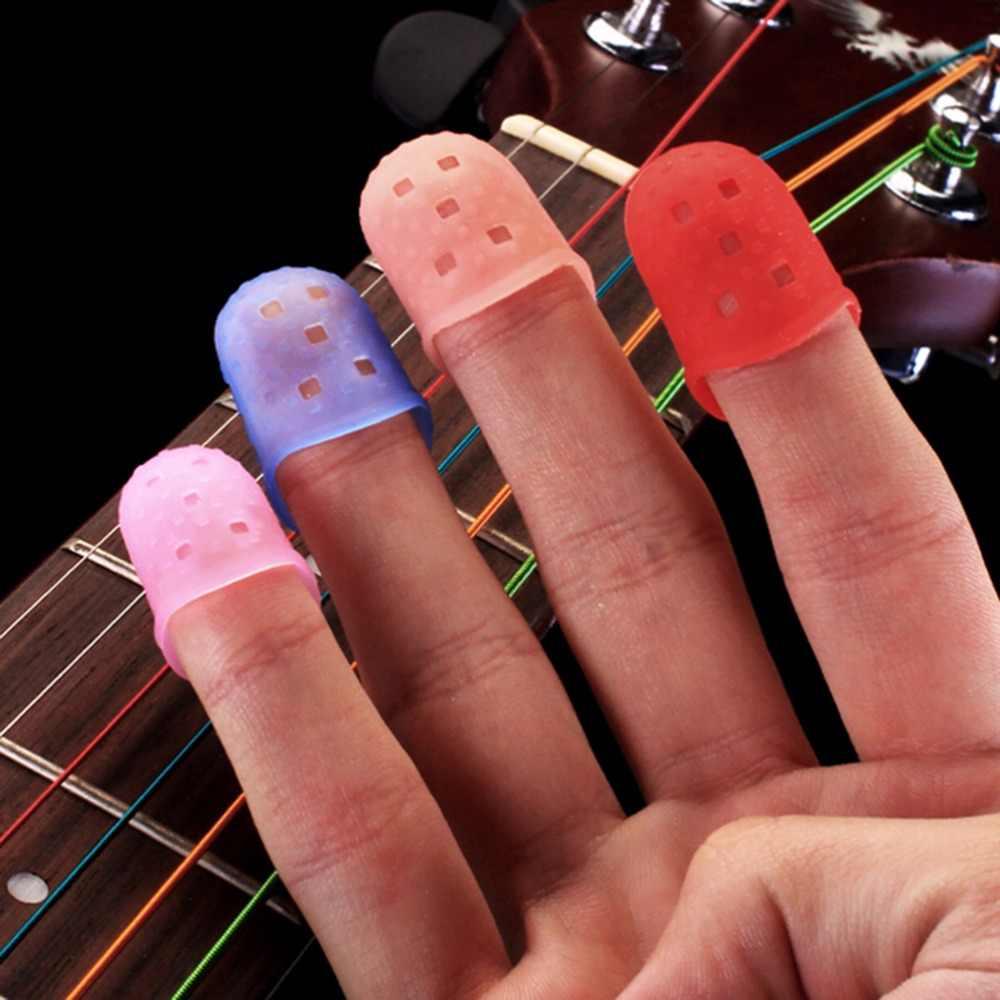 1Pcs מגן מפרט להקות אקראי ColorGuitar אביזרי S/M/L חדש גיטרה בס אגודל סיליקון אצבע מרים
