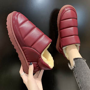 Ankle-Boots Winter Woman Soft-Shoes Waterproof Fashion Ladies Plush Fur Warm Casual Brand-New