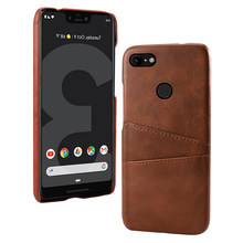 for Google Pixel 3 3 XL Case 3A 3A XL Case Vantage Leather PC Back Protective Cover for Google Pixel 2 2 XL 4 4 XL Case Card(China)