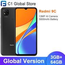 Versão global xiaomi redmi 9c 9 c 3gb ram 64gb rom do telefone móvel helio g35 octa núcleo 6.53