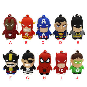 10-Model Usb-Flash-Drive Pendrive Spiderman 16GB Captain-America Batman Saras-Usb2.0
