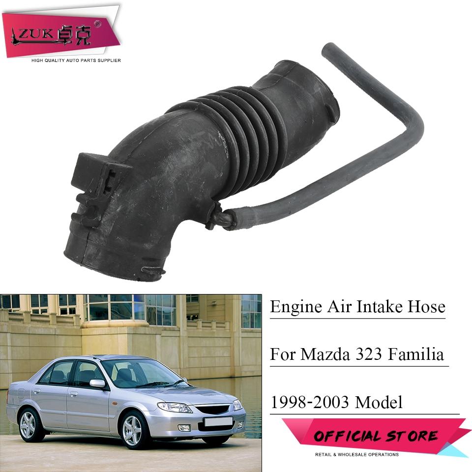 ZUK Engine Air Intake Hose For Mazda 323 Familia Protege 1.5L 1.6L 1998-2003 Air Flow Tube OEM:ZM01-13-220 ZM01-13-22X