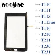 สีดำ/สีขาว Touchpad Sensor สำหรับ Samsung Galaxy Tab 3 Lite T111 T110 T116 T113 T210 T230 Touch Screen Digitizer แผง10ชิ้น/ล็อต