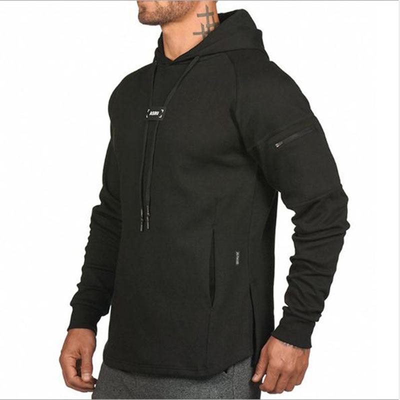 Alpha Men S Hoodies  Fitness Bodybuilding Sweatshirt  Sportswear Male Workout Hooded Jacket Clothing