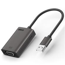 HFES YEHUA LC06Y 1 USB To VGA Adapter 1080Pภายนอกการ์ด สำหรับแล็ปท็อปPC Monitorโปรเจคเตอร์
