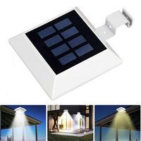 6 LED zasilany energią słoneczną Ultr jasne oświetlenie wodoodporna lampa dachowa rynna bezpieczeństwa do ogrodu Yard czujnik zewnętrzny kinkiet w Lampy solarne od Lampy i oświetlenie na