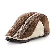 Высококачественный винтажный берет шапка осень зима козырек