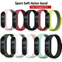 Mi Band 3 4 ремешок Браслет Силиконовый нейлоновый наручный браслет для часов аксессуары запястье и mi Band 3 для Xiaomi mi 3 4 браслета