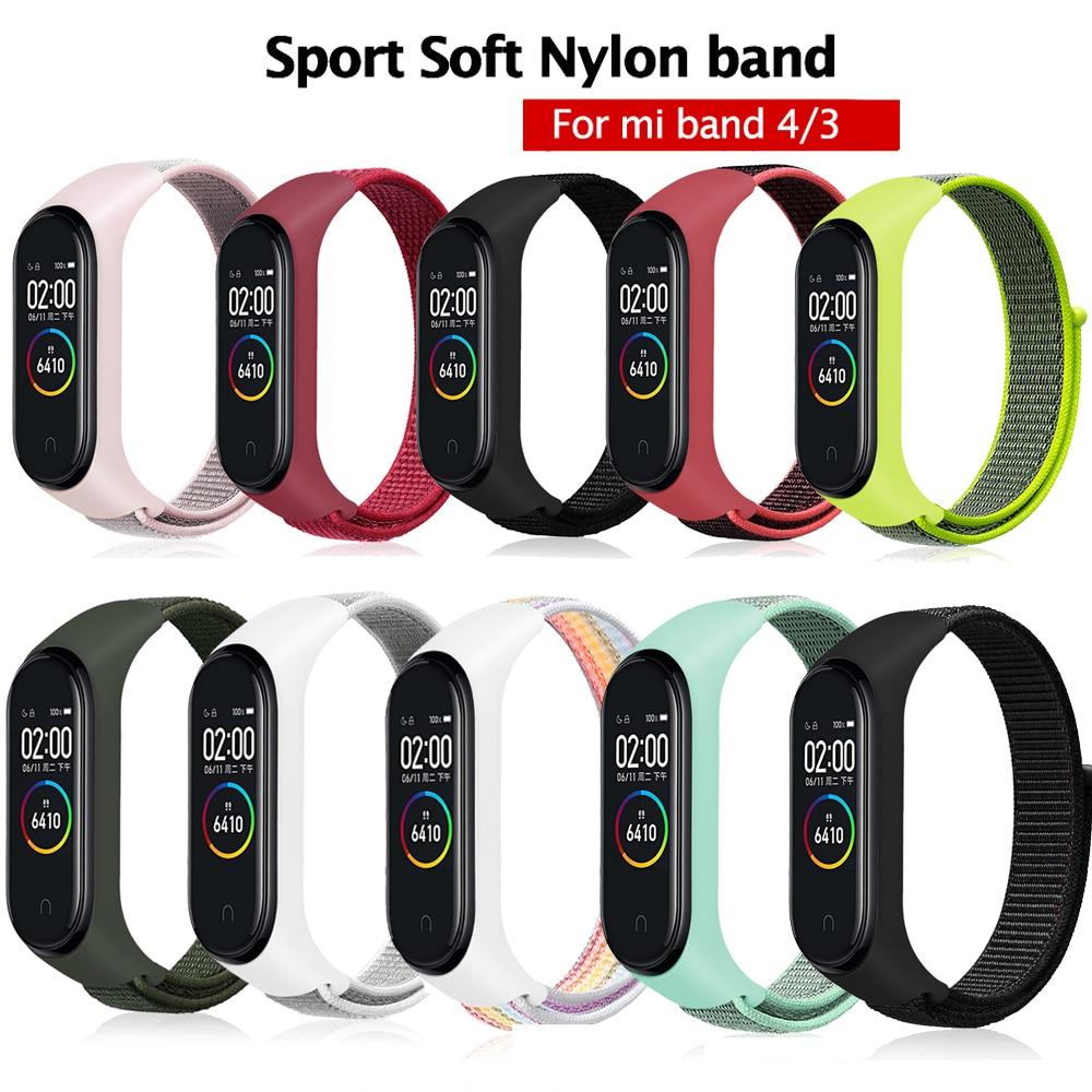 Mi Band 3 4 Strap Bracelet Silicone Nylon Wristband Smart Band Accessories Wrist And Mi Band 3 For Xiaomi Mi Band 3 4 Bracelet