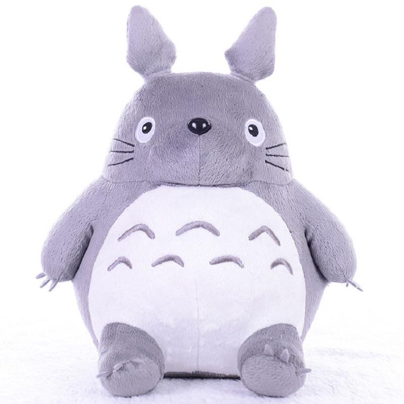 Totoro Plush Toys Soft Stuffed Animals Anime Cartoon Pillow Cushion Cute Fat Cat Chinchillas Children Birthday Christmas Gift