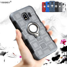 Luxury Armor Case For Samsung Galaxy J2 Pro J4 Core J8 J7 J3 A9 A7 A8 J6 J4 Plus 2018 A750 A9s Shockproof Hard Back Cover Funda(China)