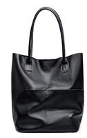 Women Genuine Leather Shoulder Bags Causal Vintage Soft Cowhide Skin Handbag Shopping Bucket Liner Bag High Quality