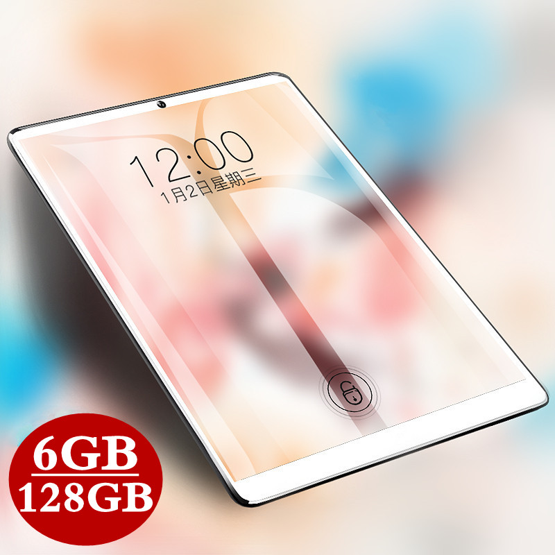 10.1 Inch IPS 1920*1280 Tablet 3G 4G LTE Dual SIM Card Tablet PC Octa Core 6GB RAM 128GB ROM Tablets Android 9.0 Bluetooth GPS