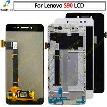 100% testado para lenovo s90 display lcd + tela de toque digitador assembléia pannel com substituição do quadro S90 T S90 U S90 A ferramentas