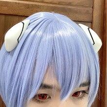 Alta qualidade anime eva curto luz azul cabelo ayanami rei resistente ao calor peruca cosplay headwear haripins + peruca boné