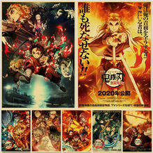 Art Painting Wall-Stickers Comic Anime Poster Movie Demon Slayer Mugen-Train Japanese