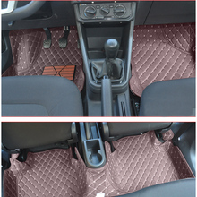 lsrtw2017 leather car floor mat for skoda rapid 2012 2013 2014 2015 2016 2017 2018 2019 2020 interior accessories stickers rug