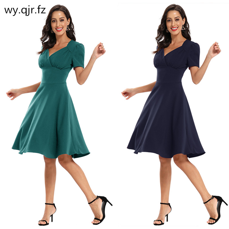 CD-1760# Short Bridesmaid Dresses Wine Red Dark Blue Blackish Green Wedding Party Prom Dress Cheap  Wholesale Girls Clothing