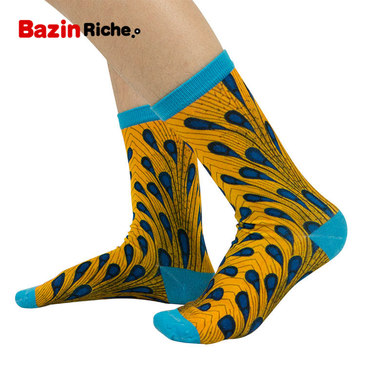 3 Pairs/pack Women Socks African Print Design Colorful Soft Socks Leisure Bamboo Fiber African Women Sock Gift Female WYB466