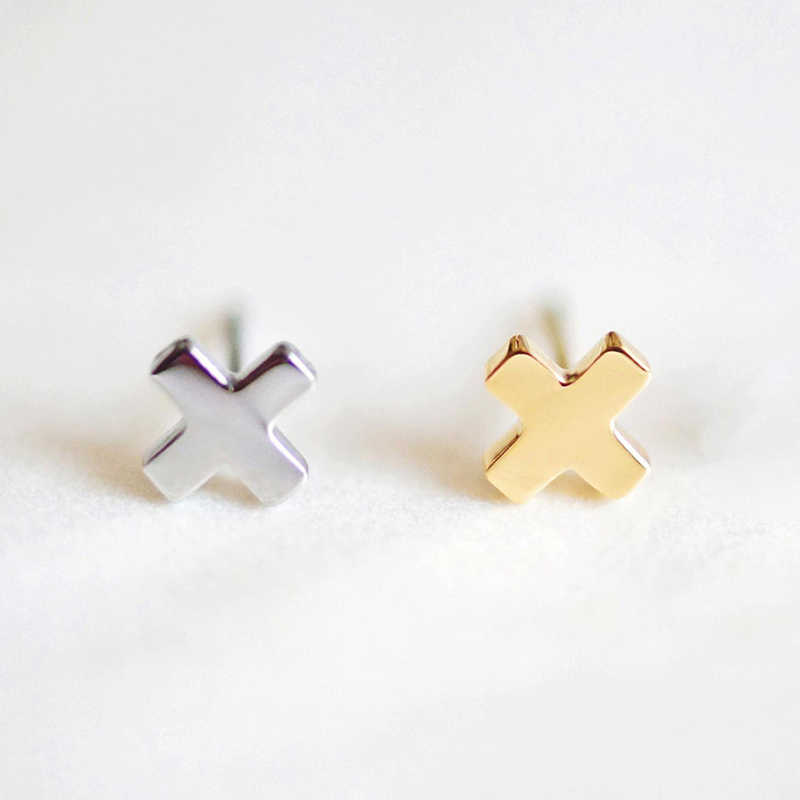 Girls Stainless Steel Stud Earrings for women Office Small Earring Studs Minimalist Jewelry 2019 Wholesale women earrings Stud