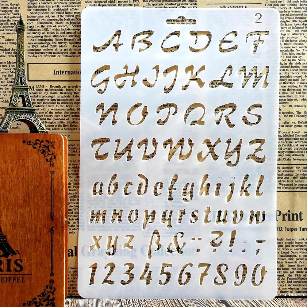 ARTIBETTER 2pcs Letter Number Templates Ruler Retro Brass Metal Bookmark Stencils Clip Drawing Template Ruler for Art Craft DIY Photo Album Office School